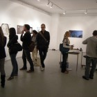 Audience gathers at Jason Sparr's Art Gallery