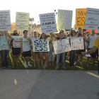 Students Protest Closing of Department
