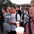 Students who participated held candles in their hands during the vigil