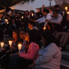 Students and community members gather at Storke Tower to commemorate victims of Tucson shooting