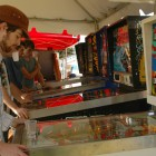 Students could also play vintage pin ball, free of charge.