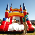 Besides music, students had other activities to engage in. Pictured here is a slide bounce house.