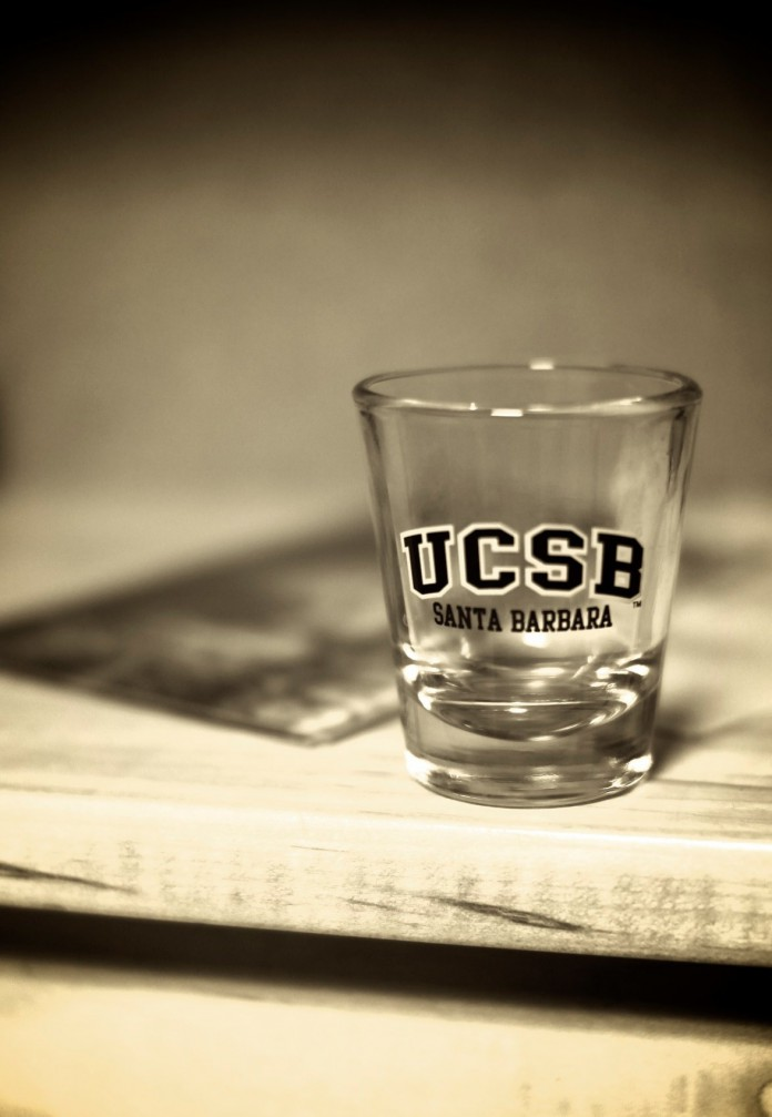 UCSB shot glass