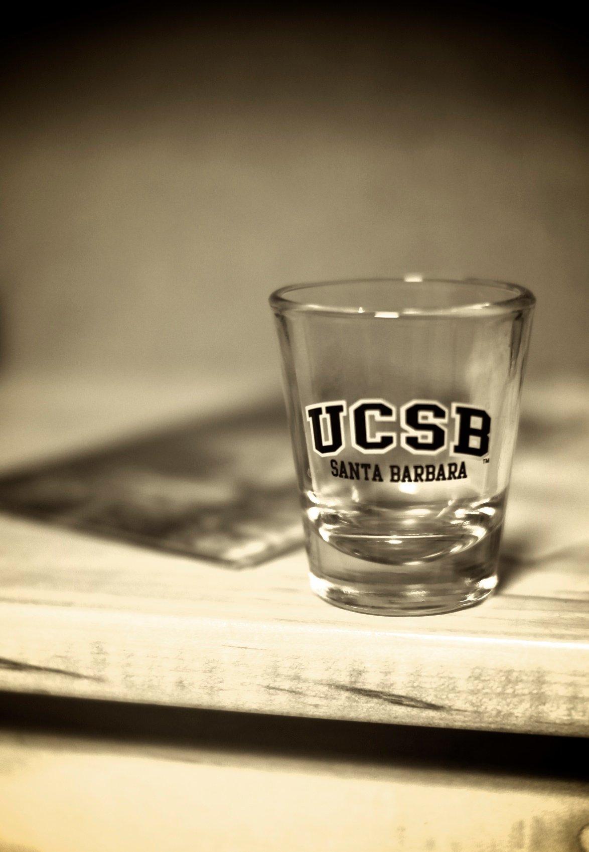 UCSB shot glass