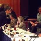 Patrick Lenz, VP of UC Budget and Capital Resources speaks with the UC Regents at Tuesdays meeting