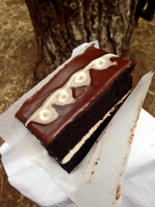 final triple layered chocolate cake