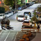 Paramedics and police at one of the nine crime scenes in Isla Vista on May 23. (Photo by Lorenzo Basilio)