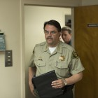 Sheriff Bill Brown enters the conference room at the Sheriff's Headquarters a few hours after the shootings, early morning on May 24, to address the press. (Photo by Mark Brocher)