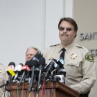 Sheriff Bill Brown speaks at a press conference on May 24 at the Sheriff's Headquarters. (Photo by Mark Brocher)