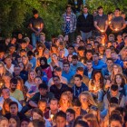 Students and community members at Anisq'Oyo Park in Isla Vista during the UCSB Candlelight Vigil on May 24. (Photo by Lorenzo Basilio)