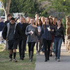 Students march to Anisq'Oyo Park in Isla Vista on May 24. (Photo by Mark Brocher)