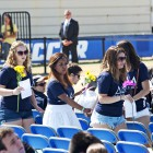 Sisters of Tridelt arrive at the memorial held at Harder Stadium on May 27, 2014. (Photo by Magali Gauthier)