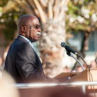 Vice Chancellor for Student Affairs Michael D. Young speaks to Gauchos.