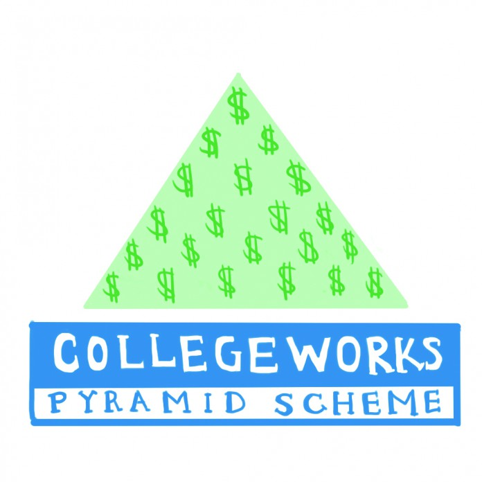 college works painting recruiting for the internship pyramid the