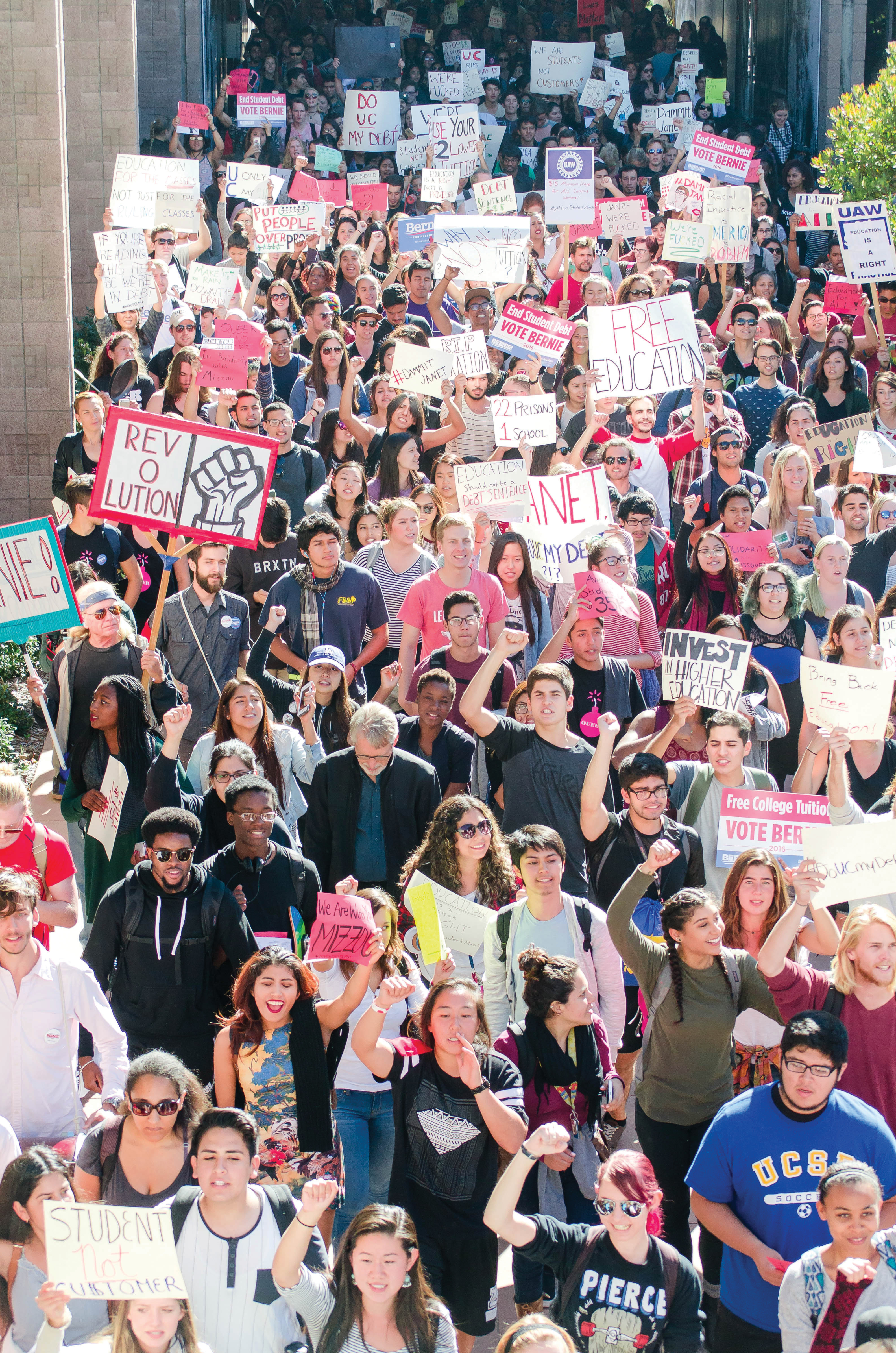 millionstudentmarch students rally in support of higher education