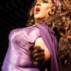 """Miss Borgia Bloom looking flashy during her performance of Clean Bandit's """"Rather Be"""""""