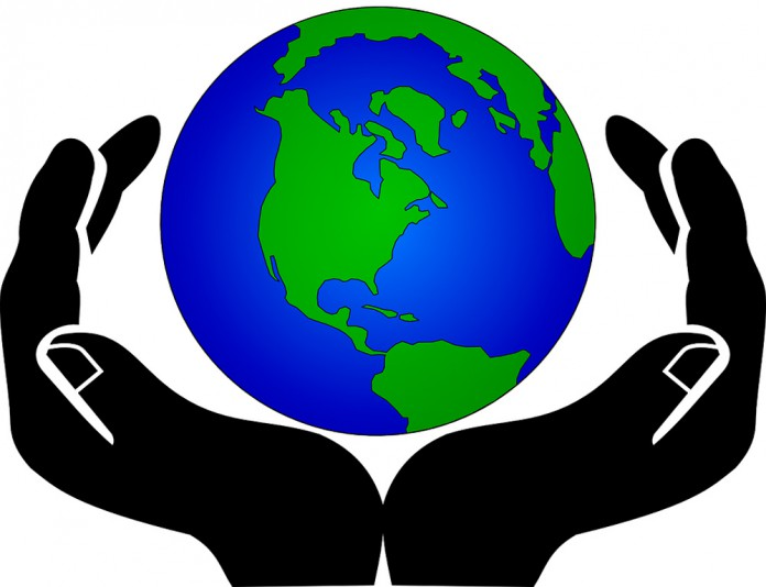 Line Art Earth : Annual earth day will not save the bottom line