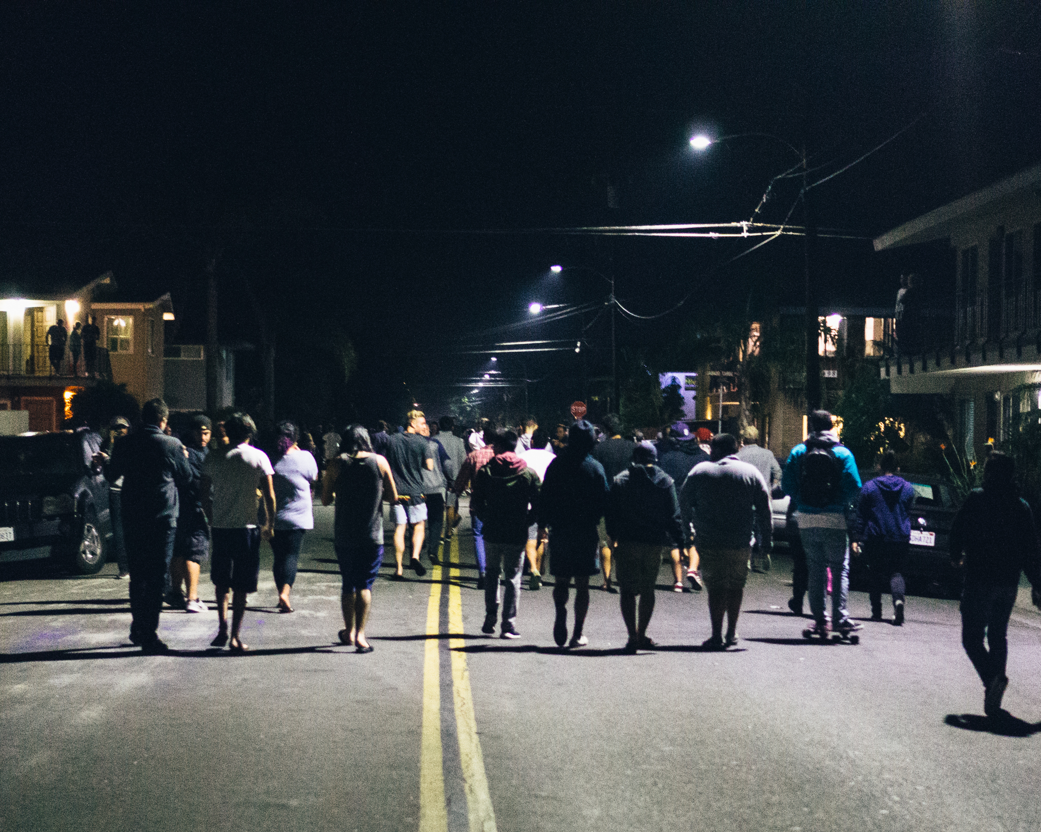 Students left their houses and apartments in Isla Vista to join the movement, which originated from campus. (Photo by Mark Lasa/Staff Photographer)